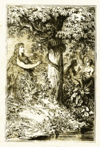 Lilith, illustration by Carl Poellath from 1886 or earlier